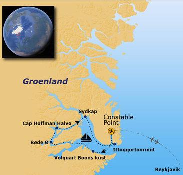 Route Groenland - 13 dagen