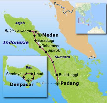 Route Sumatra en Bali, 19 dagen