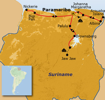 Route Suriname, 18 dagen