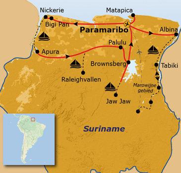 Route Suriname, 26 dagen