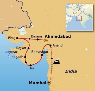 Route Gujurat, 19 dagen