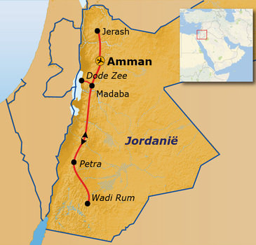 Route Jordanië Pop-Up, 8 dagen