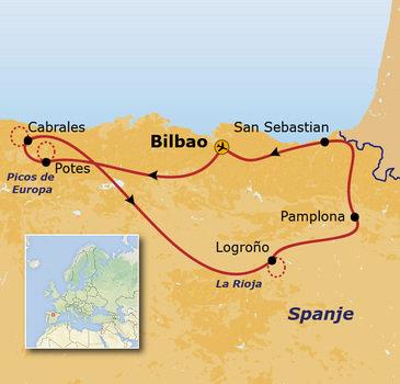 Route Noord-Spanje, 8 dagen