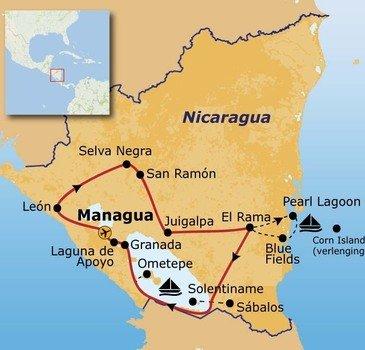 Route Nicaragua, 23 dagen