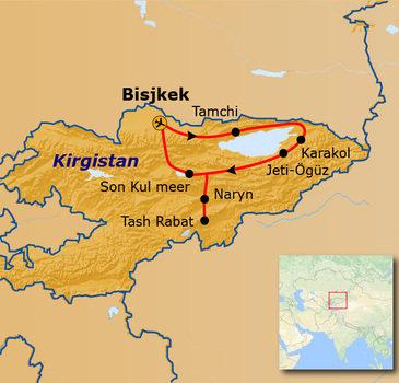 Route Kirgistan, 15 dagen