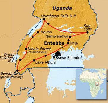 Route Uganda, 22 dagen