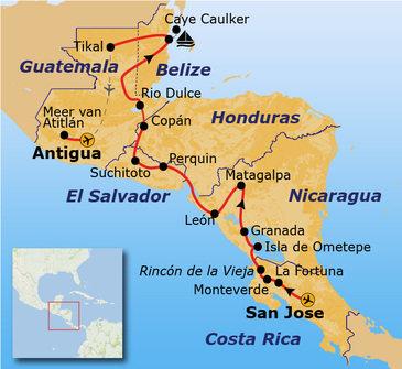 Route Trans Midden Amerika vanaf 2020