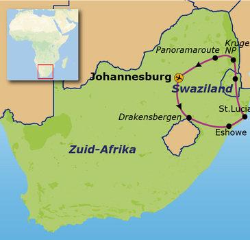 Zuid-Afrika en Swaziland, 17 dagen