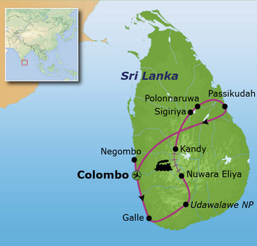 Route Sri Lanka Comfort Plus, 17 dagen