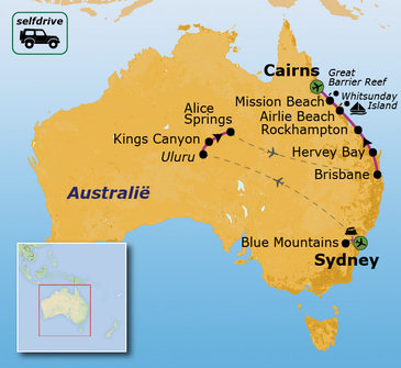 Route Australië Selfdrive, 22 dagen