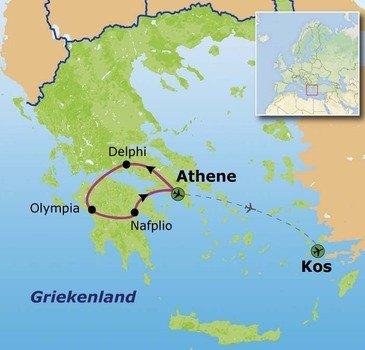 Route Griekenland, 2018