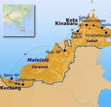Route Maleisisch Borneo Hoogtepunten, 18-dagen