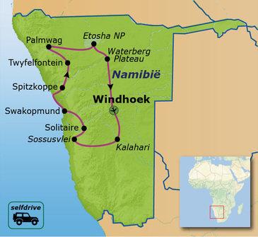 Route Namibië Selfdrive (19 dagen)