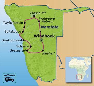 Route Namibië Selfdrive