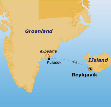 Route Groenland - 16 dagen