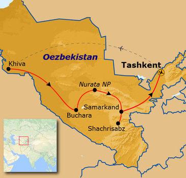 Route Oezbekistan, 14 dagen