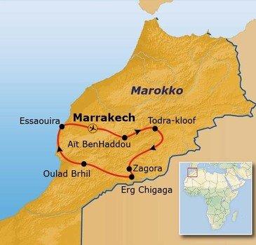 Route Marokko, 10 dagen