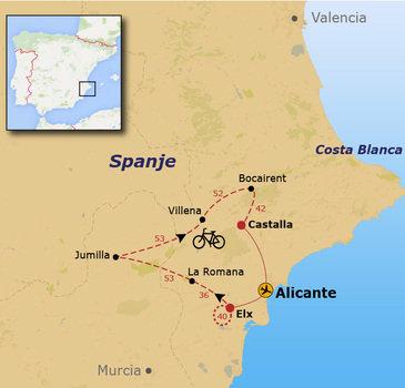 Fietsvakantie Vino Alicante