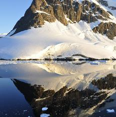 Reflecterend water Antarctica