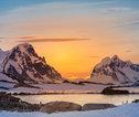 Zonsondergang Antarctica