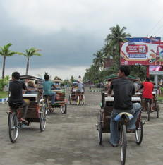 Becak rit in Makassar